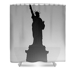 Statue Of Liberty Shower Curtain by Tony Cordoza