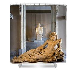 Statue Of The Oceanus Shower Curtain by Artur Bogacki