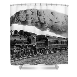 Steam Locomotive No. 999 - C. 1893 Shower Curtain by Daniel Hagerman