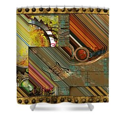 Steampunk Abstract Shower Curtain by Liane Wright