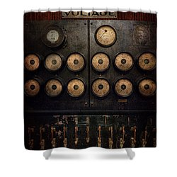 Steampunk - Electrical - Center Of Power Shower Curtain by Mike Savad
