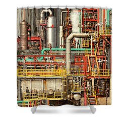 Steampunk - Industrial Illusion Shower Curtain by Mike Savad