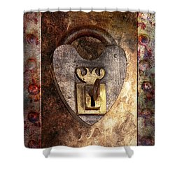 Steampunk - Locksmith - The Key To My Heart Shower Curtain by Mike Savad