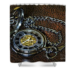 Steampunk - The Pocketwatch Shower Curtain by Paul Ward