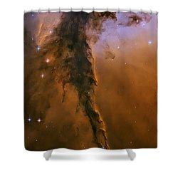 Stellar Spire In The Eagle Nebula Shower Curtain by Adam Romanowicz