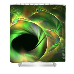 Stellar-wind Bubble Shower Curtain by Kim Sy Ok