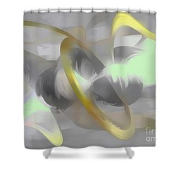 Sterling Desire Abstract Shower Curtain by Alexander Butler
