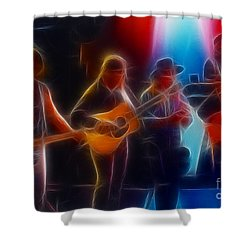 Steve Miller Band Fractal Shower Curtain by Gary Gingrich Galleries