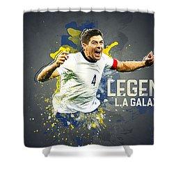 Steven Gerrard Shower Curtain by Taylan Soyturk