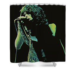 Steven Tyler 2 Shower Curtain by Paul Meijering