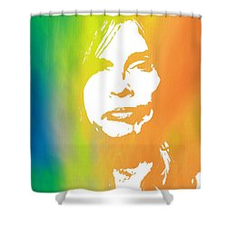 Steven Tyler Shower Curtain by Dan Sproul