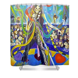 Steven Tyler In 50 Years Shower Curtain by To-Tam Gerwe