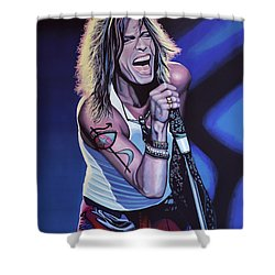 Steven Tyler Of Aerosmith Shower Curtain by Paul Meijering