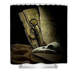 Still Life With A Bird Skull Shower Curtain by Jaroslaw Blaminsky