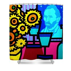 Still Life With Vincent Shower Curtain by John  Nolan