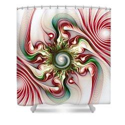 Stimulation Shower Curtain by Anastasiya Malakhova