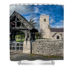 St.marcellas Entrance Shower Curtain by Adrian Evans