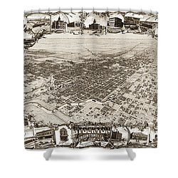 Stockton San Joaquin County California  1895 Shower Curtain by California Views Mr Pat Hathaway Archives