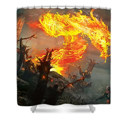 Stoke The Flames Shower Curtain by Ryan Barger