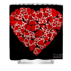 Stoned In Love Shower Curtain by Barbara Chichester