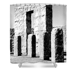 Stonehenge Replica Shower Curtain by Chalet Roome-Rigdon