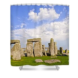 Stonehenge Stone Circle Wiltshire England Shower Curtain by Colin and Linda McKie