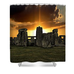 Stonehenge Wiltshire Uk Shower Curtain by Martin Newman