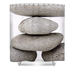 Stones Shower Curtain by Les Cunliffe