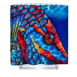 Stoplight Parrotfish Shower Curtain by Daniel Jean-Baptiste