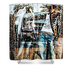 Store Window Display Shower Curtain by Rudy Umans