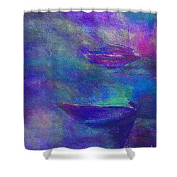Storm Boats Shower Curtain by Claire Bull