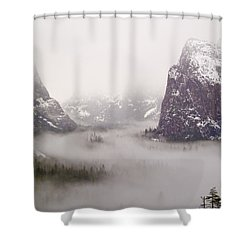 Storm Brewing Shower Curtain by Bill Gallagher