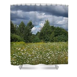 Storm Brewing Shower Curtain by Eunice Miller