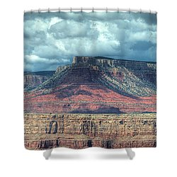 Storm Clouds Over Grand Canyon Shower Curtain by Donna Doherty