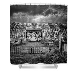 Storm Coming In On The Farm Shower Curtain by Thomas Young
