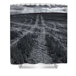 Storm Tracks Shower Curtain by Mike  Dawson