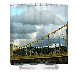Stormy Bridge Shower Curtain by Frank Romeo