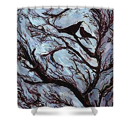 Stormy Day Greenwich Park Shower Curtain by Ellen Golla