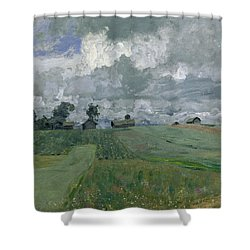 Stormy Day Shower Curtain by Isaak Ilyich Levitan