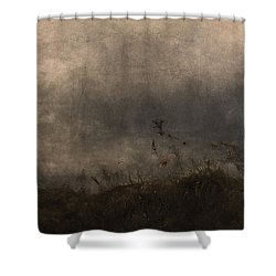 Stormy Mondays Shower Curtain by Ron Jones