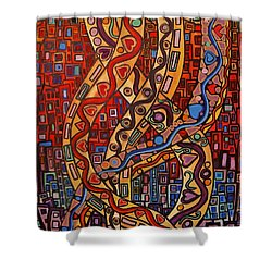 Story Lines Shower Curtain by Barbara St Jean