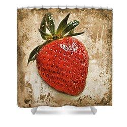 Strawberry  Shower Curtain by Barbara Orenya