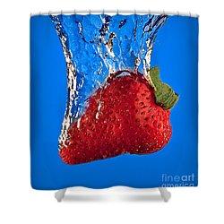 Strawberry Slam Dunk Shower Curtain by Susan Candelario