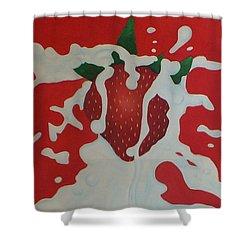 Strawberry Shower Curtain by Sven Fischer