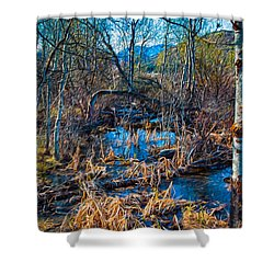 Streaming Beauty Shower Curtain by Omaste Witkowski