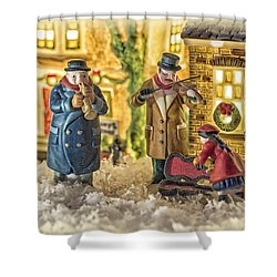 Street Musicians Shower Curtain by Caitlyn  Grasso