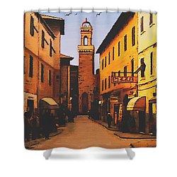 Street Scene Shower Curtain by SophiaArt Gallery