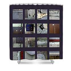 Streets Of New York Poster Shower Curtain by Marlene Burns