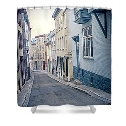 Streets Of Old Quebec City Shower Curtain by Edward Fielding
