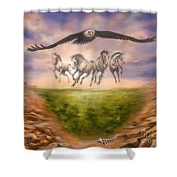 Strength Of The Horse Shower Curtain by Tamer and Cindy Elsharouni